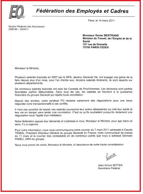 Lettre SF FO Assurances au Ministre du Travail 14 03 2011.jpg