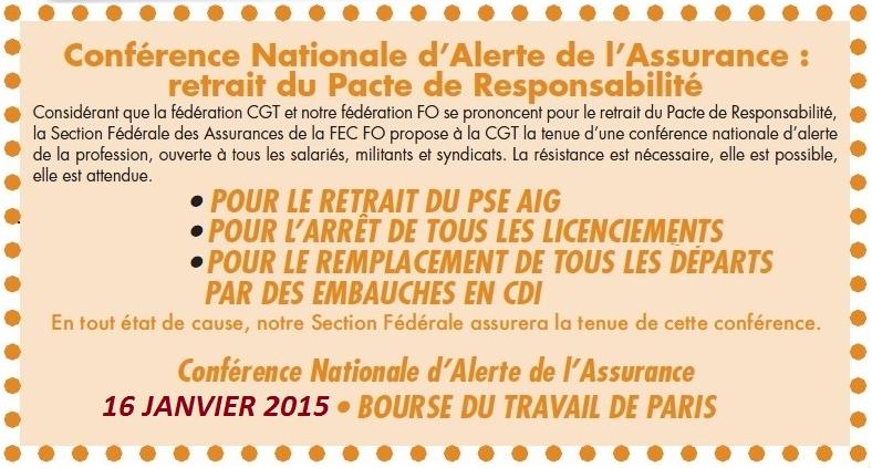 FO CONFERENCE NATIONAL D'ALERTE 16 01 15