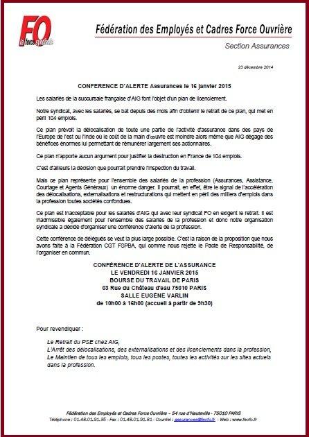 TRACT SF ASSURANCES PACTE DE RESPONSABILITE 30 10 2014