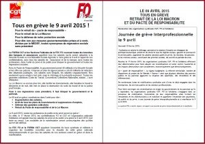Appel FO & CGT banques assurances 9 avril