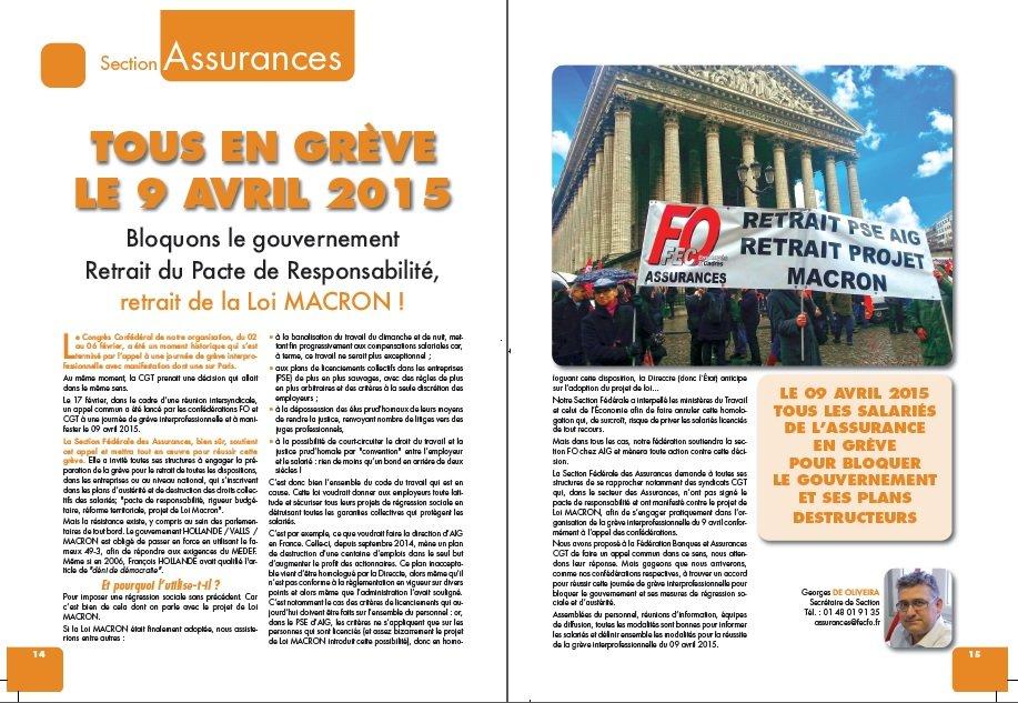 Jec FO Assurances mars 2015